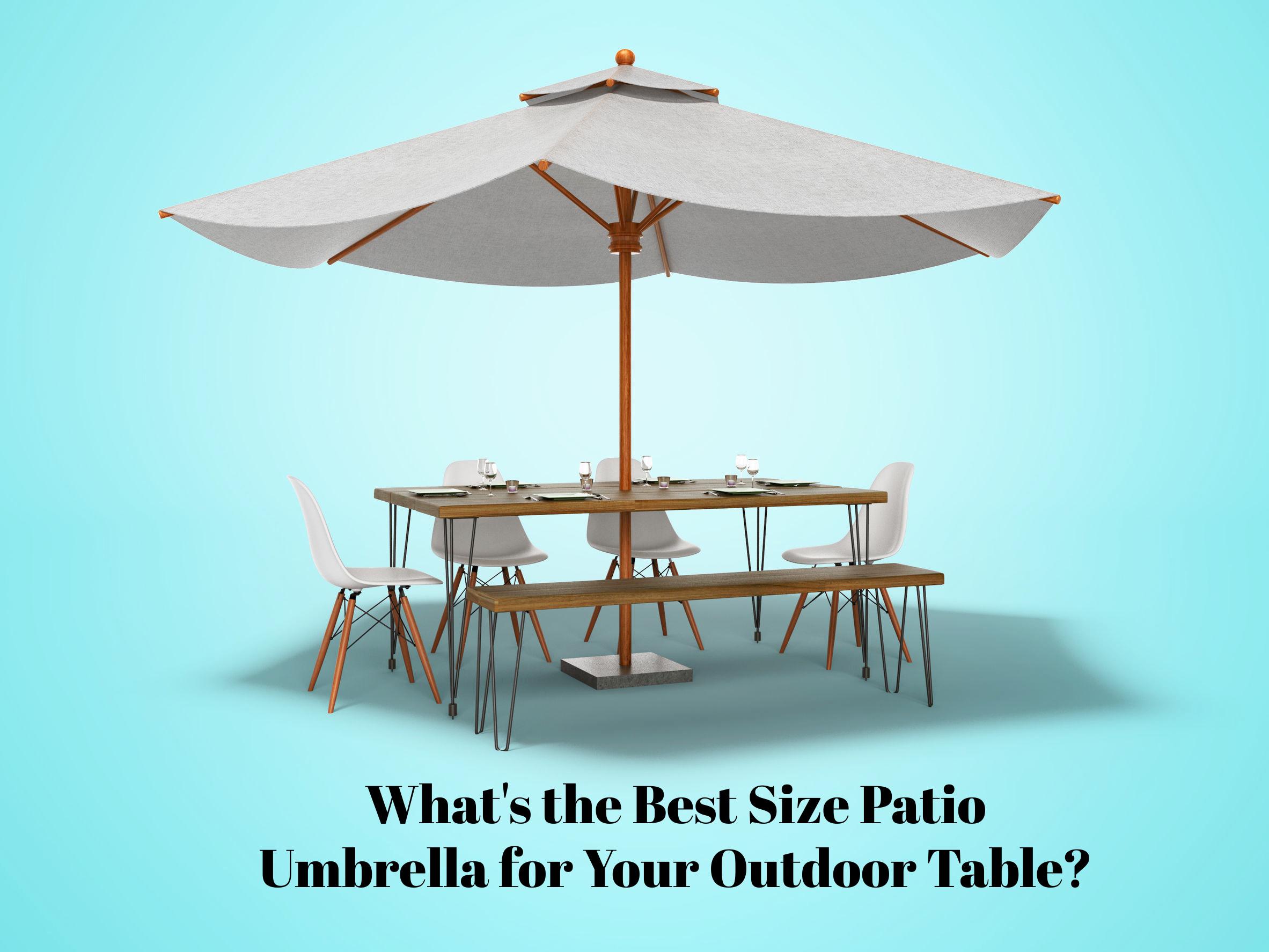 what size patio umbrella