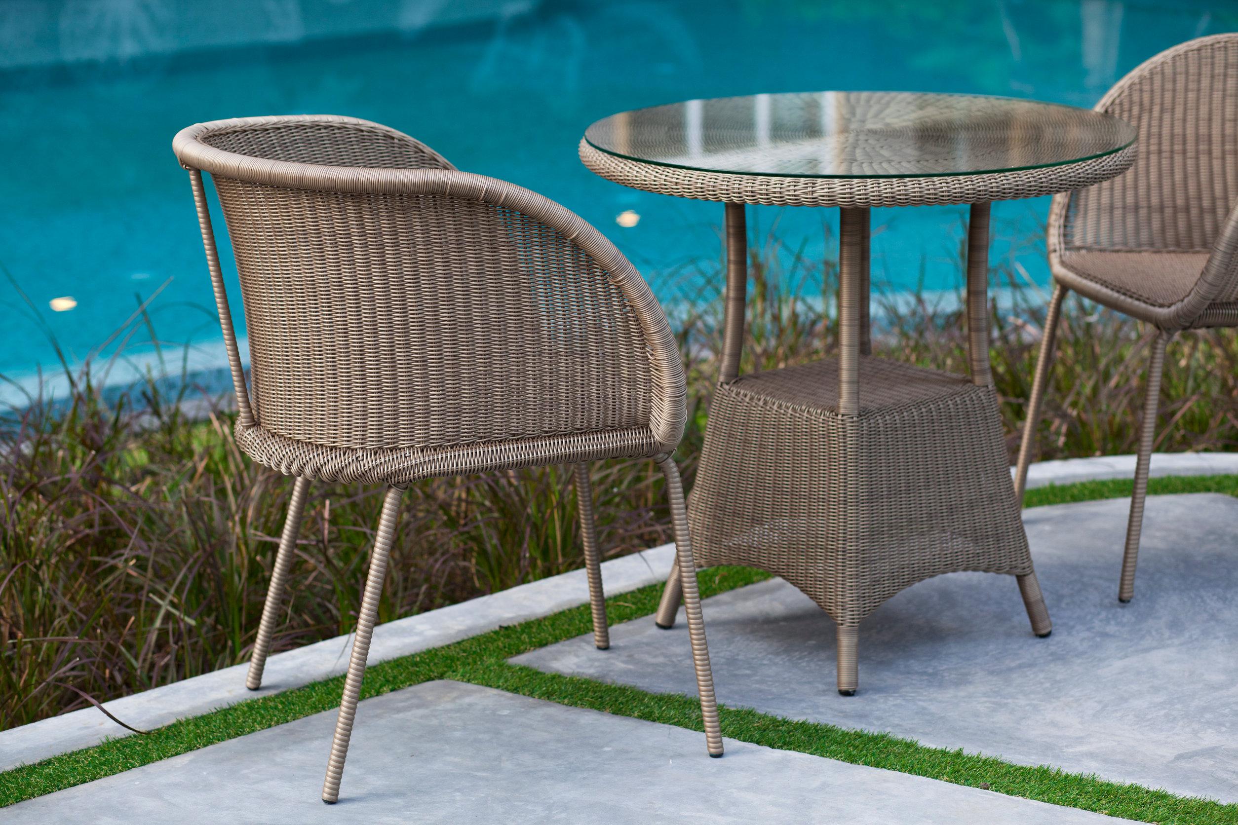 bistro patio table set