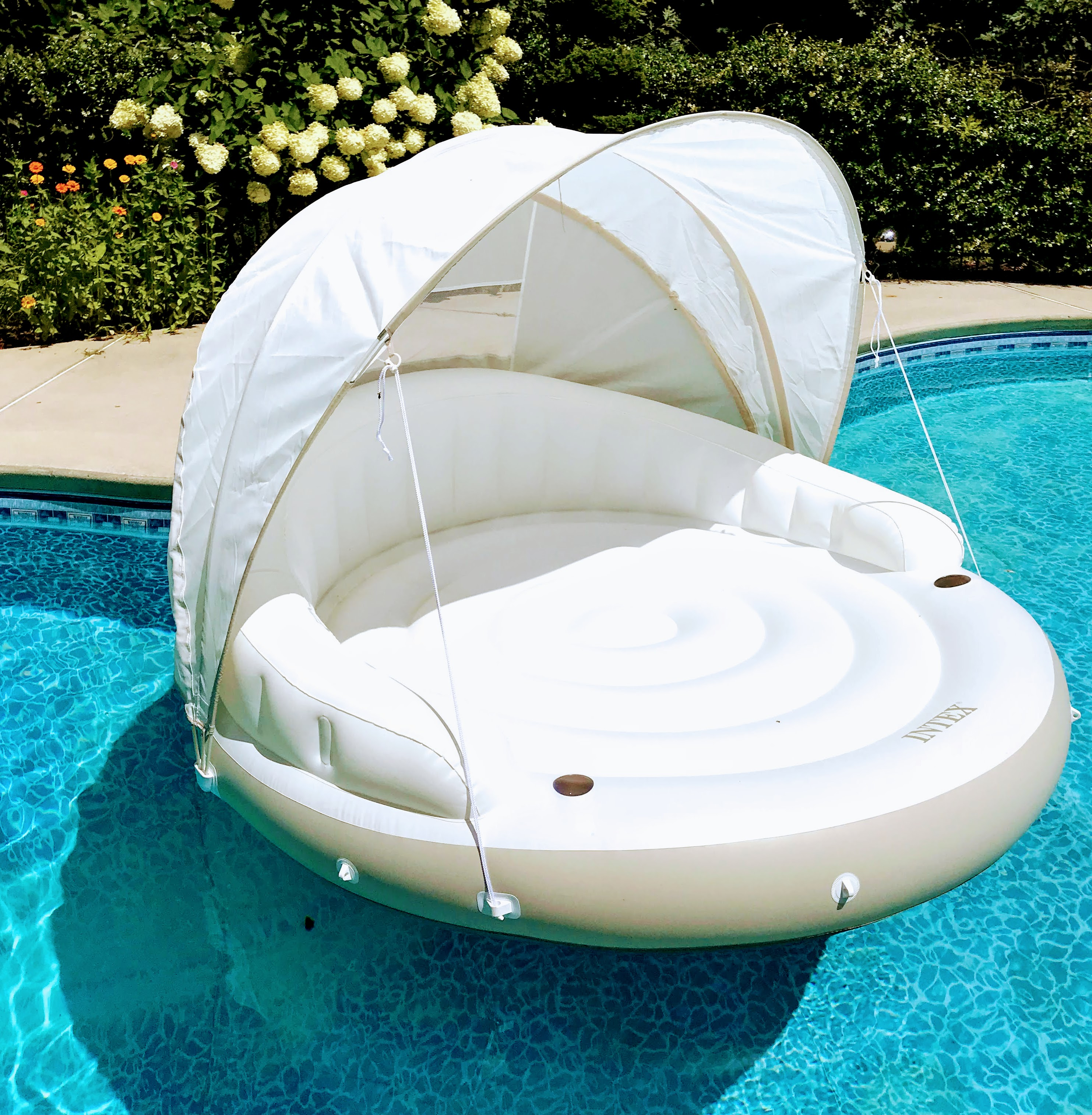 pool float with canopy