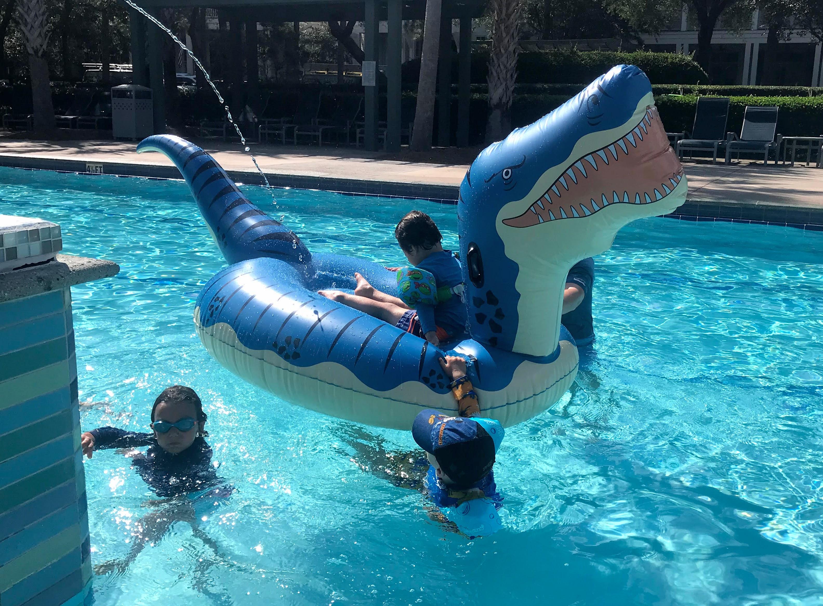 dinosaur pool float