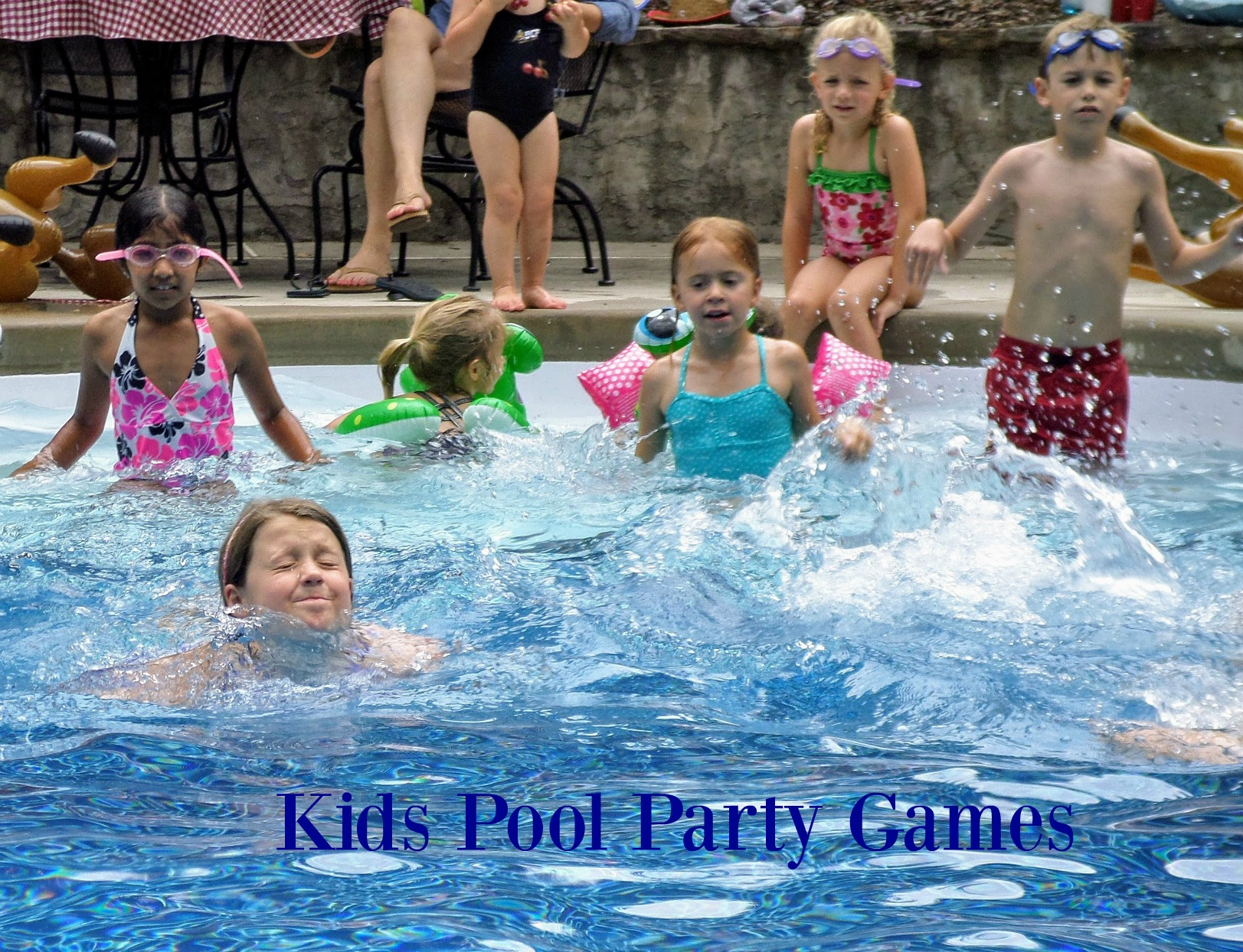 Pool Games For Kids Swim Through Hoops And Dive For Treasures