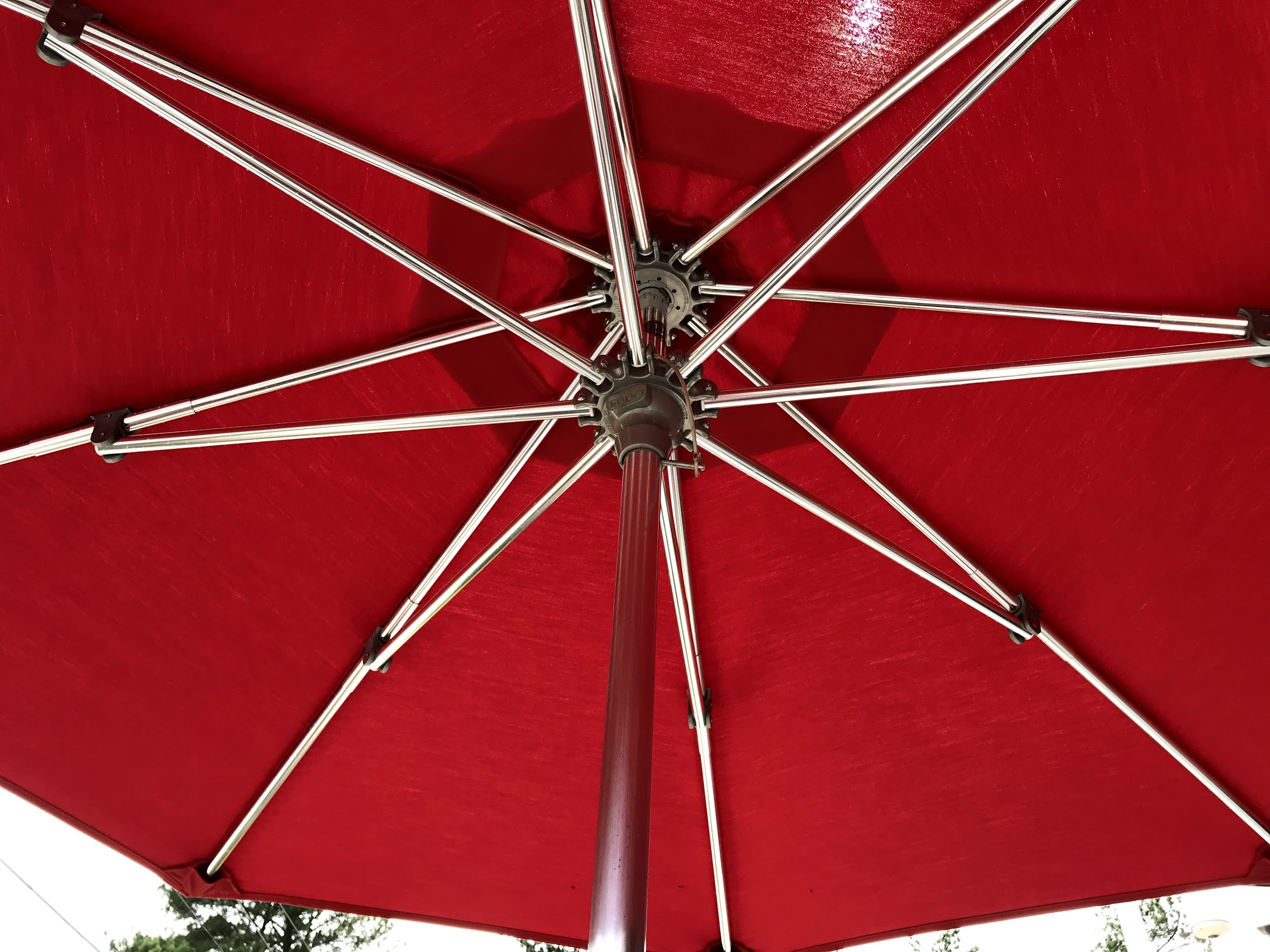 patio umbrella pole and frame
