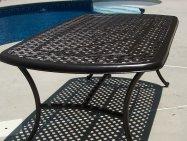 cast aluminum patio table
