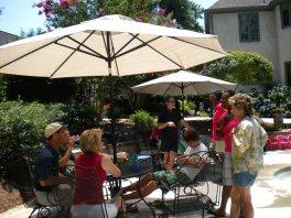 Woodard Cast Aluminum Oval Umbrella Table Top, Outdoor Patio