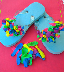 decorate your own flip flops