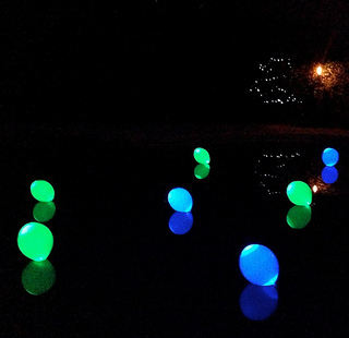 swimming pool decorations - lights, floats and fountains
