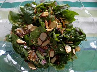 fresh spinach salad recipe