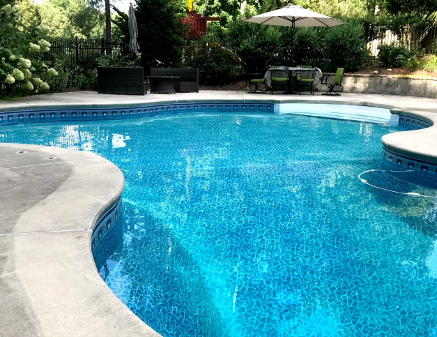 low maintenance landscaping for swimming pools