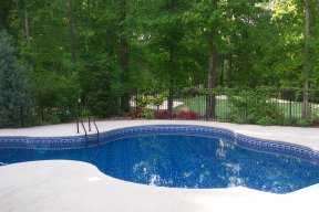 dark vinyl swimming pool liners
