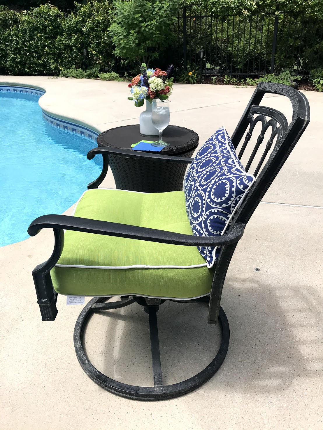 swimming pool chair