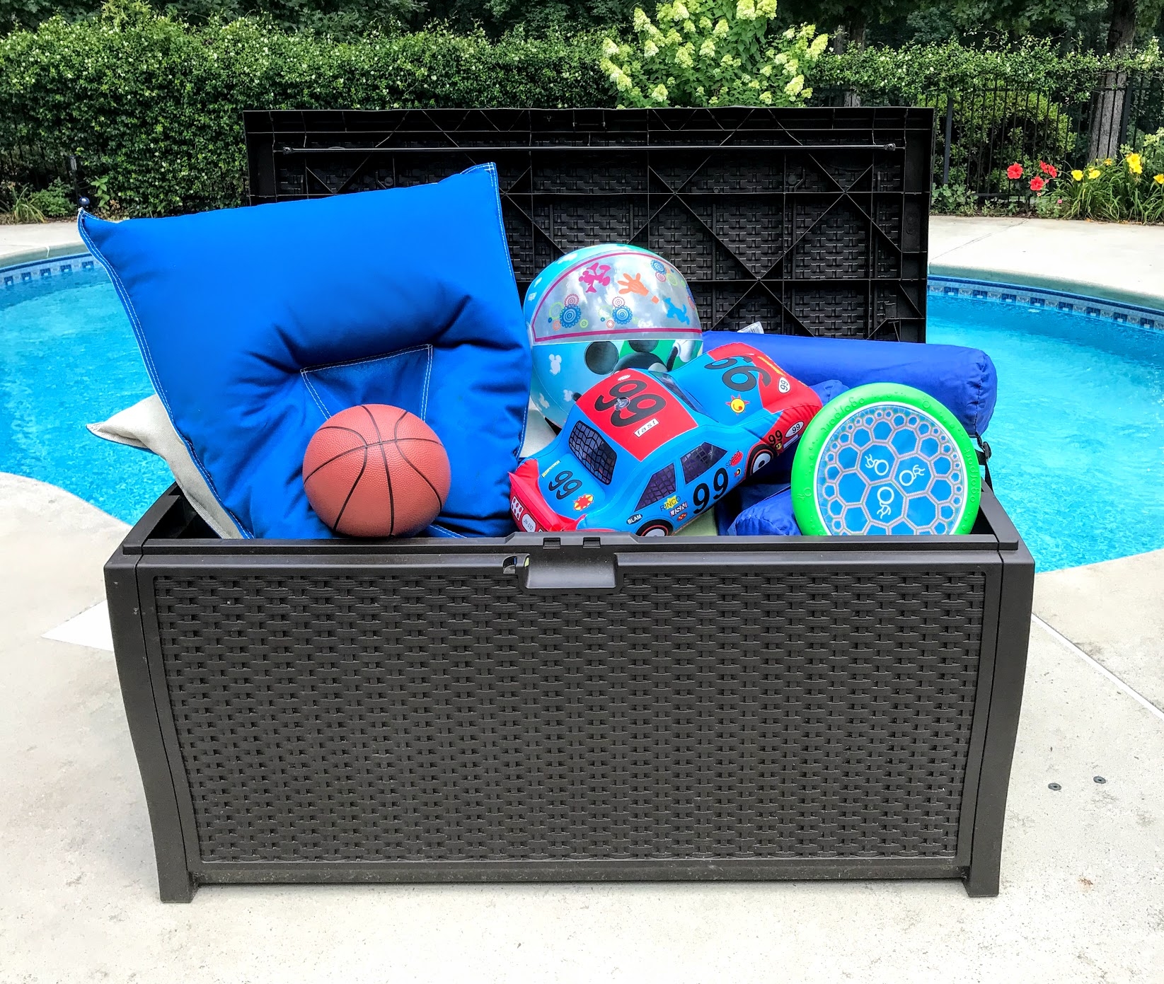 swimming pool toy storage tips