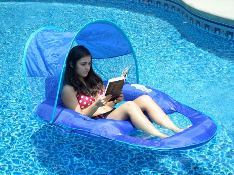 swimming pool float with canopy