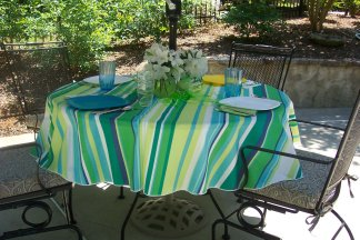 Outdoor Tablecloths, Umbrella Tablecloths, Linen Products Designer