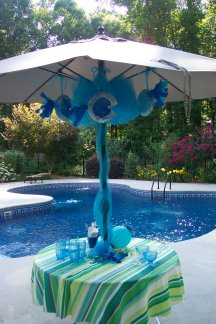deep sea birthday party, fish party decorations,pool party decorations