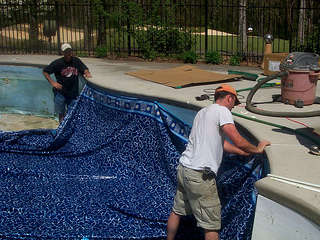 replacing pool liners