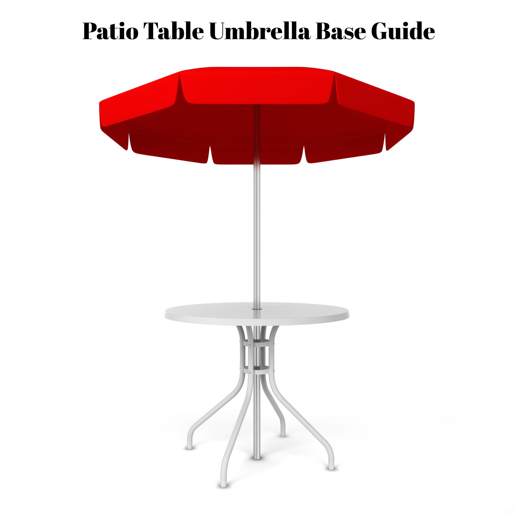 patio table umbrella base