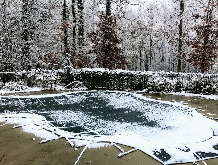 winter swimming pool cover