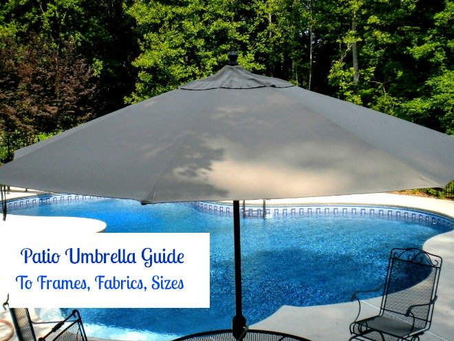 patio umbrella guide to frames, fabrics and sizes