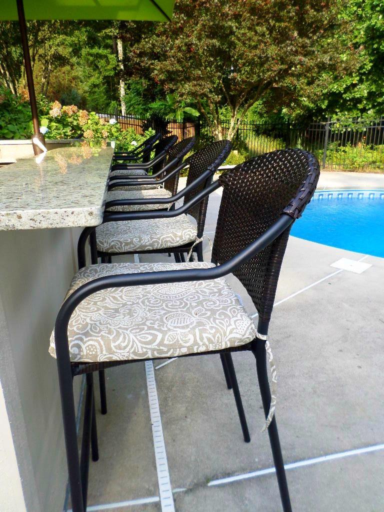 outdoor wicker bar stools