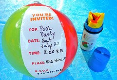 kids pool party invitations