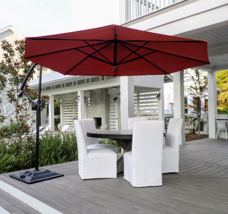 cantilevered patio umbrella