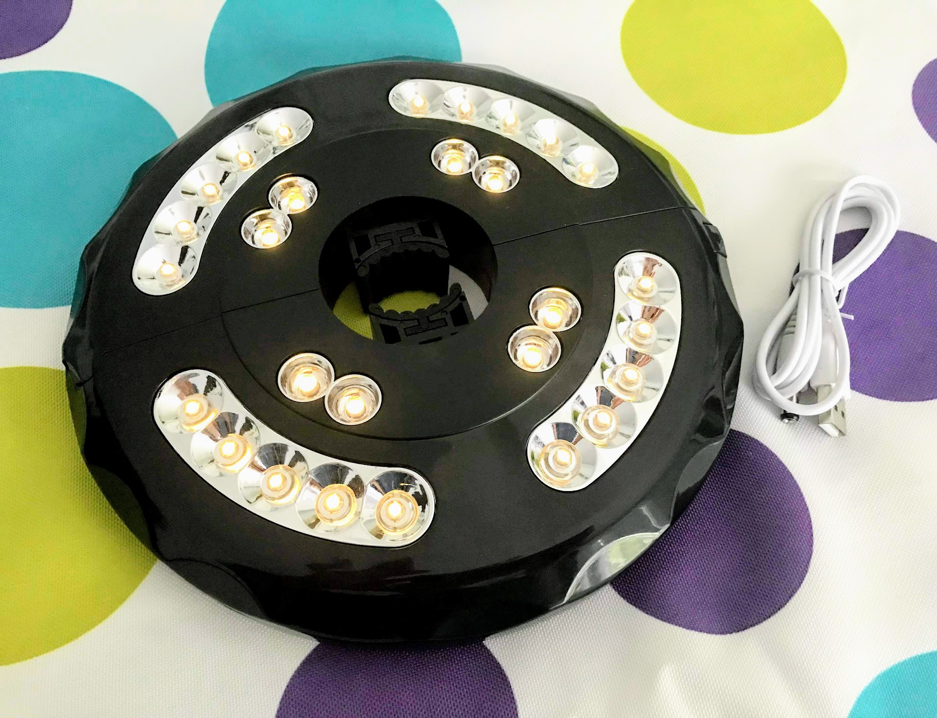 pool party lights for your outdoor umbrella