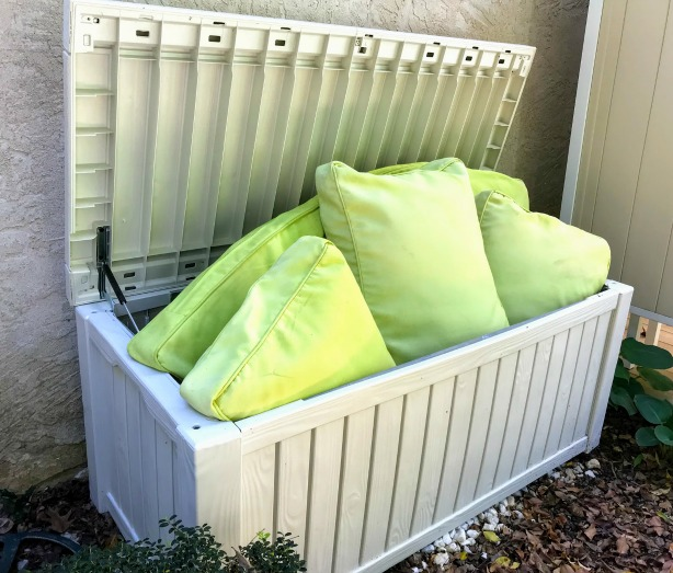 deck storage boxes for outdoor furniture cushions