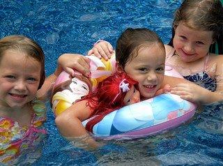 little mermaid pool party