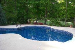 beaded pool liner