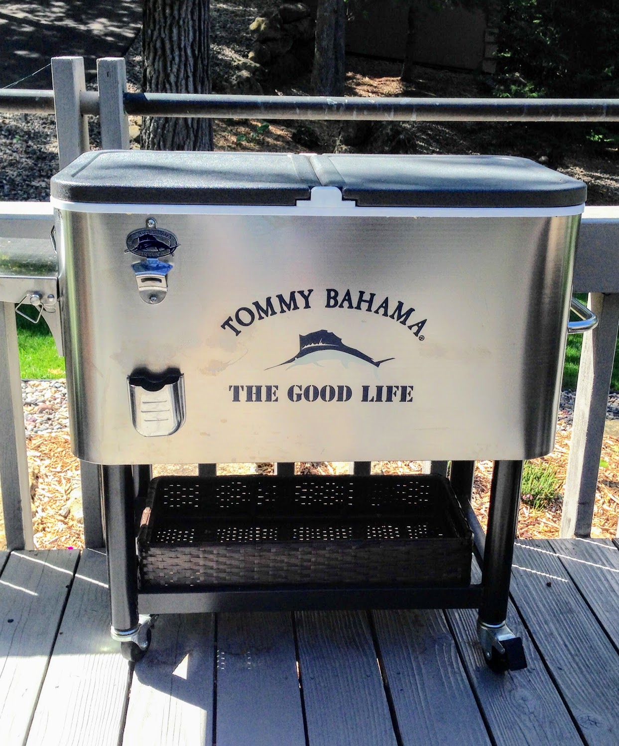 rolling beverage cooler for adult pool party