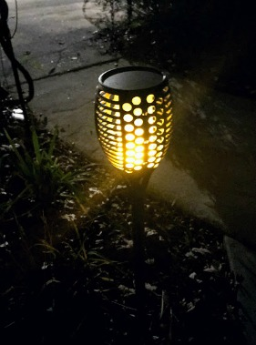 solar flickering lights